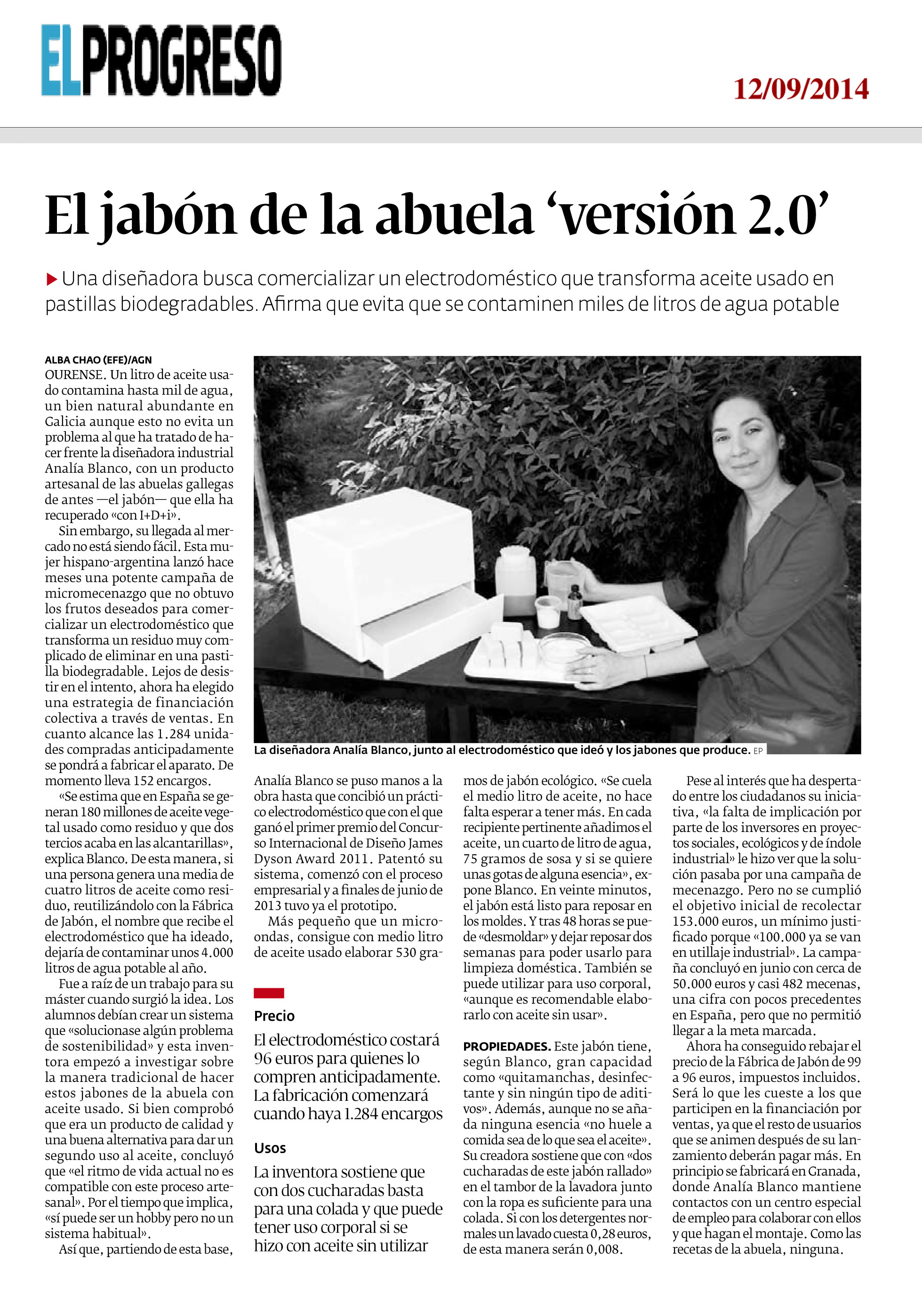 Publicación en periodico EL PROGRESO